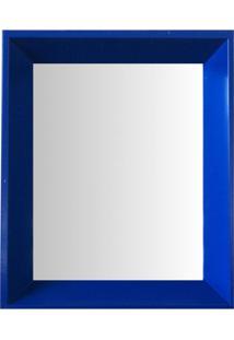 Espelho Moldura Madeira Lisa Fundo 16330 Azul Art Shop