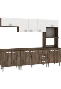 Cozinha Compacta Master Com Tampo Cm03T Naturalle/Branco - Fellicci
