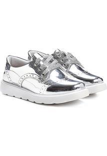 Sapato Klassipé Metalizado Infantil - Feminino-Prata