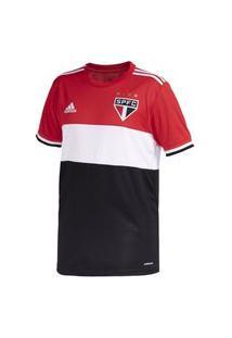 Camisa Adidas Sáo Paulo Iii 21 Masculina Gq9292, Cor: Preto/Vermelho, Tamanho: Gg