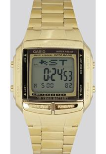 Relógio Digital Casio Feminino - Db360G9Adfu Dourado - Único