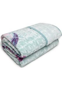 Cobertor Casal Corttex 180X220 Home Design Azul