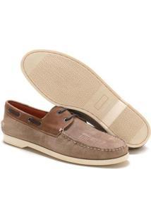 Mocassim Navit Shoes Docksider Masculino - Masculino-Bege