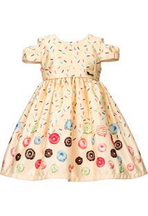 Vestido Infantil Cattai Donuts