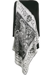 Lanvin Vestido Assimétrico - Preto