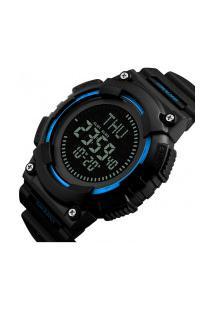 Relógio Skmei Digital -1259- Preto E Azul