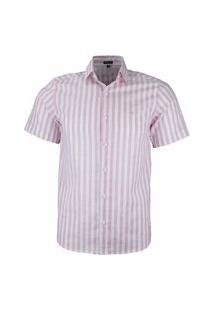 Camisa Social Amil Modelagem Comfort Tecido Algodão 1648 Rosa Bebê