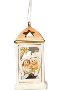 Enfeite Sagrada FamãLia Com Led- Branco & Dourado- 1Cromus