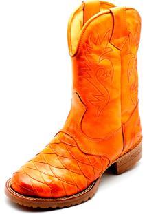 Bota Clube Do Sapato De Franca Country Texana Esc. Arizona Bege