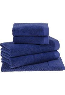 Jogo De Toalhas Dual- Azul- 5Pçsbuddemeyer