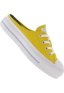 Tênis Mule Converse All Star Chuck Taylor Plataforma Ct1275 - Feminino - Amarelo/Branco