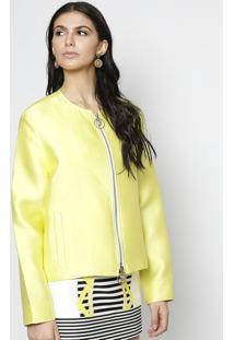 Jaqueta Com Seda & Bolsos - Verde Limão - Versaceversace