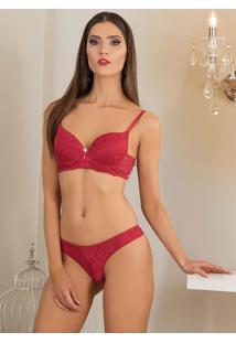 Conjunto Lingerie Embelleze Vermelho
