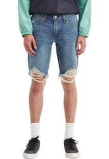Bermuda Jeans Levis Slim Cut Off Masculina - Masculino-Jeans