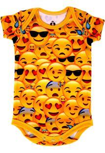 Body Isabb Emojis Amarelo - Kanui