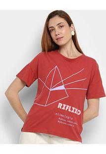 Camiseta Cantão Reflexo Feminina - Feminino-Vermelho