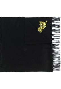 Kenzo Cachecol 'Jumping Tiger' - Preto