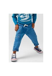 Calça Hering Jeans Infantil Reta Toddler Azul