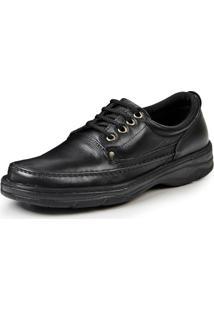 Sapato Confort Pizaflex Masculino - Masculino-Preto