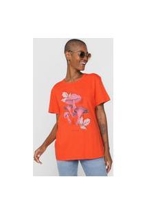Camiseta Colcci Caminhos Vermelha