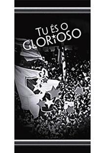 Toalha De Praia Buettner Veludo Estampado Tu És O Glorioso Botafogo Preto 7bd0e97456263