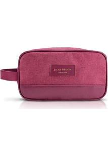 Necessaire Jacki Design Com Alça Lateral Be You - Unissex-Vinho