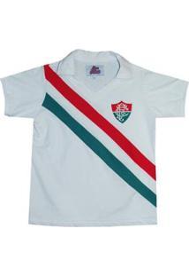Camisa Liga Retrô Fluminense 1969 Infantil - Masculino-Branco+Verde