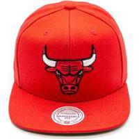 Boné Mitchell   Ness Lã Solid Nba Chicago Bulls Snapback - Unissex 5ebc1c3a936