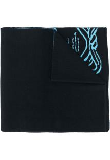 Versace Cachecol De Lã Pop Medusa - Azul