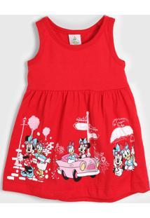 Vestido Brandili Infantil Minnie Vermelho