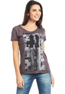 Camiseta Bossa Brasil Boots Bordo Marmorizado - Bordã´ - Feminino - Algodã£O - Dafiti