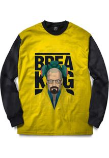 Blusa Bsc Breaking Full Print - Masculino-Preto