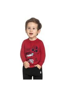 Camiseta Bebê Menino Skate Vermelho - Elian