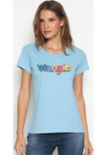 """Camiseta """" Wangler""""- Azul Claro & Vermelhawrangler"""
