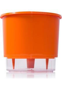 Vaso Autoirrigã¡Vel Grande- Incolor & Laranja-14,3Xã˜1Raiz Vasos Autoirrigã¡Veis