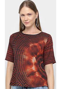 Camiseta Acostamento Fashion Mc Sb Feminina - Feminino-Laranja Escuro