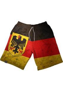 Bermuda Maromba Fight Wear Dry Alemanha Com Bolsos Masculina - Masculino-Preto