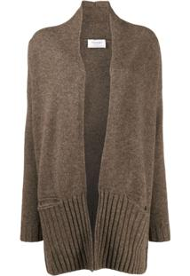 Snobby Sheep Open Front Cardigan - Marrom