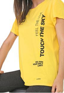 Camiseta Dimy Lettering Amarela - Kanui