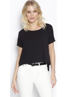 Camiseta Lisa Com Tag - Preta - Sommersommer