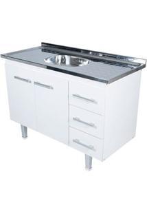 Gabinete De Cozinha New Milano 117,4X55Cm Branco Bonatto