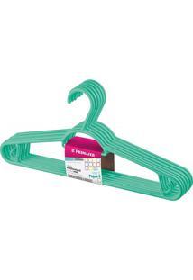 Cabide Em Plástico Pendura Mais Verde Com 6 Peças