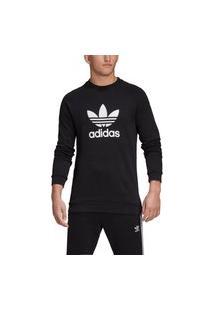 Blusa Careca Adidas Warm-Up Crew Preto