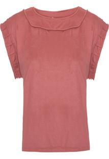 Camiseta Feminina Creta - Rosa