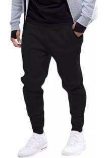 Calça Masculina De Moletom Jogger - Masculino-Preto