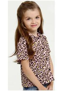 Blusa Infantil Estampa Animal Print Marisa