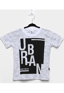 Camiseta Infantil Pulla Bulla Jet Urban Masculina - Masculino-Branco