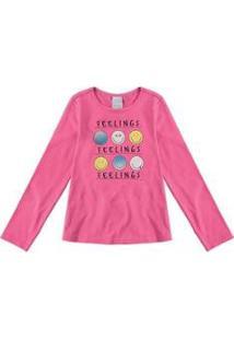 Blusa Estampada Com Glitter Malwee Kids Malwee Kids Feminina - Feminino