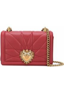 Dolce & Gabbana Bolsa Transversal Devotion Média - Vermelho