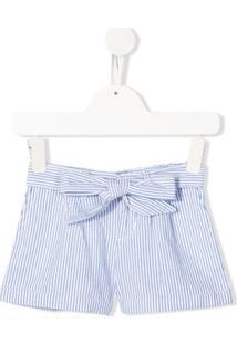 Ralph Lauren Kids Short Risca De Giz Com Cinto - Azul